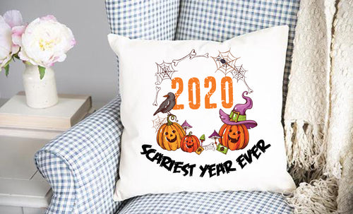 2020 Scariest Year Ever Throw Pillow Cover