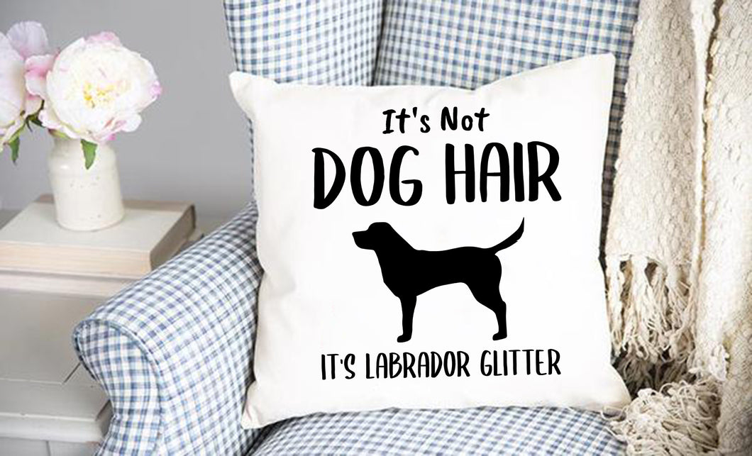 Dog Hair Lab Throw Pillow Cover