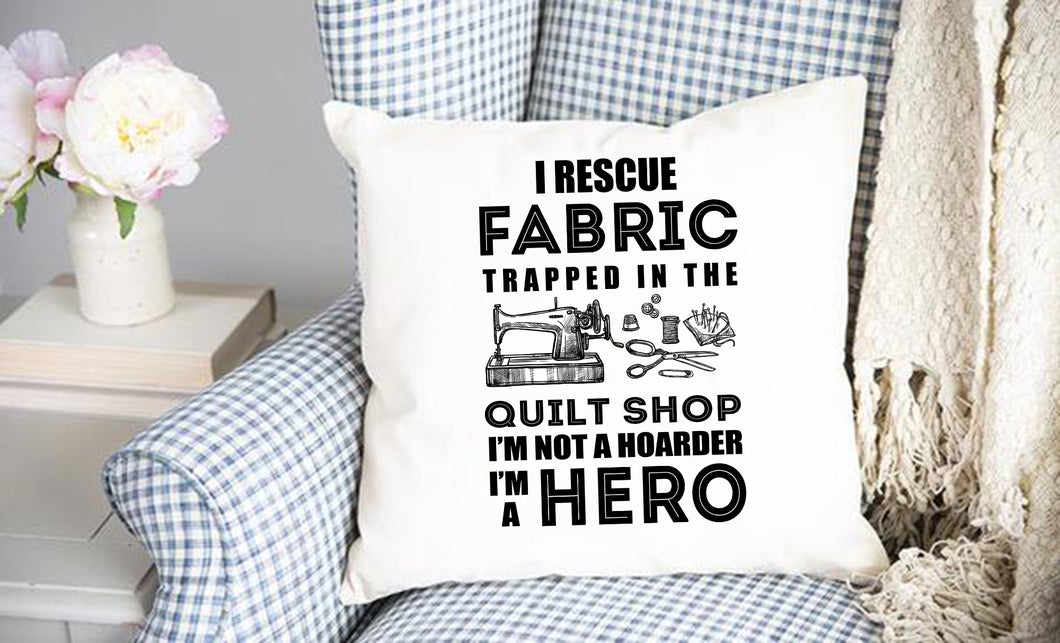 Fabric RescueThrow Pillow Cover