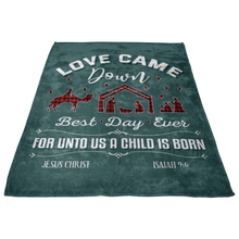 Load image into Gallery viewer, Love Came Down Christmas Blanket
