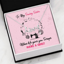 Load image into Gallery viewer, Sewing Sisters Love Necklace