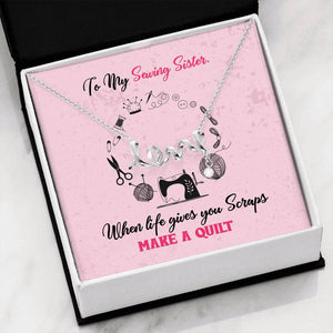 Sewing Sisters Love Necklace