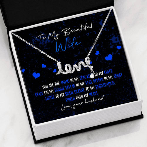 Police Wife Love Necklace
