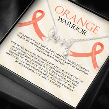 Load image into Gallery viewer, Leukemia Orange Warrior Love Necklace