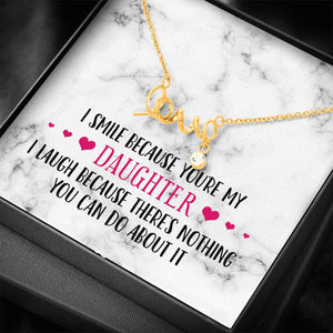 Smile Daughter Love Necklace