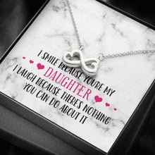 Load image into Gallery viewer, Smile Daughter Infinity Heart Necklace