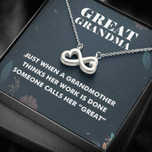 Load image into Gallery viewer, Great Grandma Infinity Heart Necklace