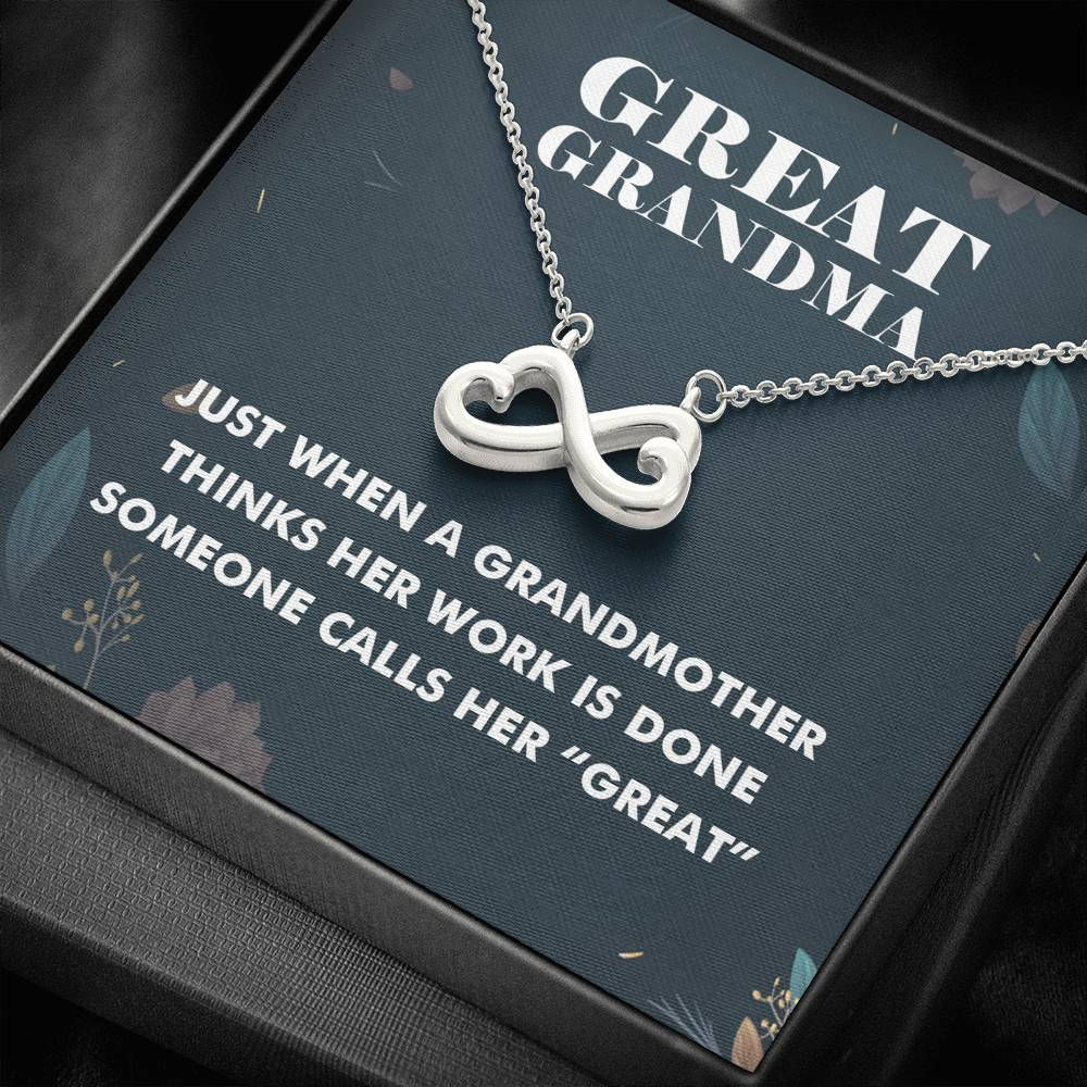 Great Grandma Infinity Heart Necklace