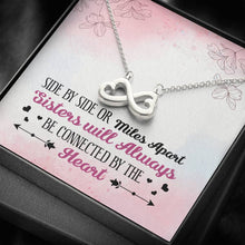 Load image into Gallery viewer, Sisters Apart Infinity Heart Necklace