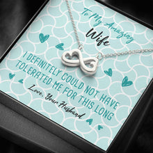 Load image into Gallery viewer, Tolerated Wife Infinity Heart Necklace