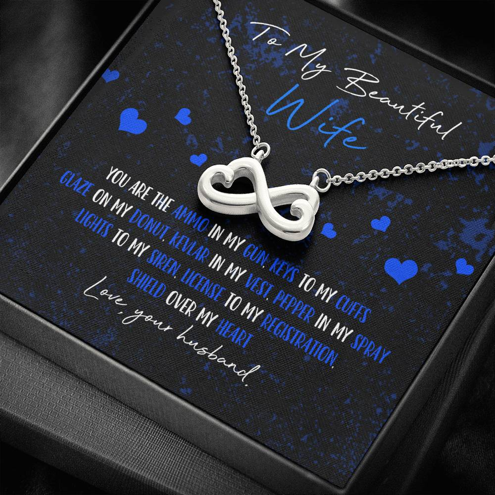 Police Wife Infinity Heart Necklace