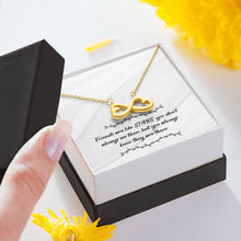 Load image into Gallery viewer, Star Friends Infinity Heart Necklace