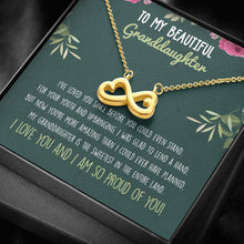 Load image into Gallery viewer, Granddaughter Infinity Heart Necklace