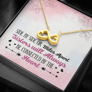Sisters Apart Infinity Heart Necklace