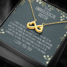 Load image into Gallery viewer, Unbiological Sister Infinity Heart Necklace