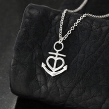 Load image into Gallery viewer, Life would be Purhell Anchor Necklace