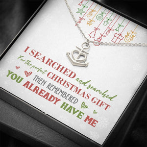 Perfect Christmas Anchor Necklace