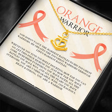 Load image into Gallery viewer, Leukemia Orange Warrior Anchor Necklace