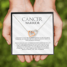 Load image into Gallery viewer, Cancer Warrior Silver and Gold Necklace