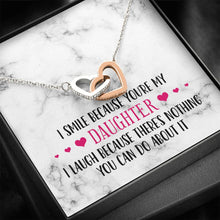 Load image into Gallery viewer, Smile Daughter Silver and Gold Necklace