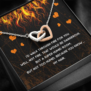 Walk Through Fire Silver and Gold Necklace