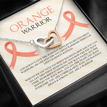 Load image into Gallery viewer, Leukemia Orange Warrior Silver and Gold Necklace