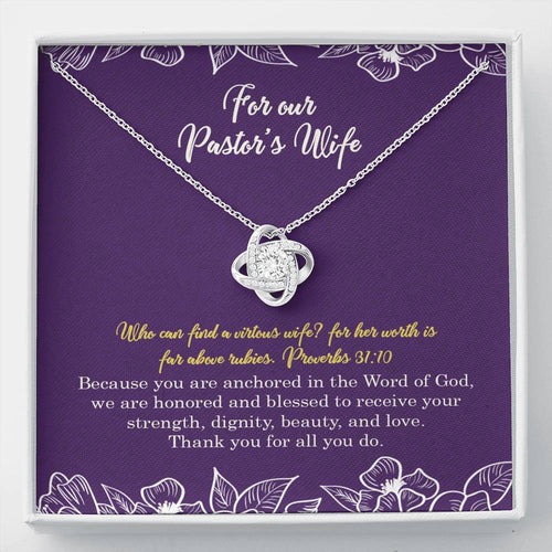 Pastors Wife Knot Necklace
