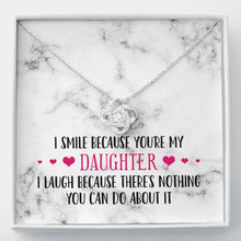 Load image into Gallery viewer, Smile Daughter Knot Necklace
