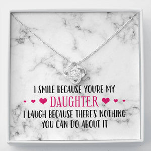 Smile Daughter Knot Necklace