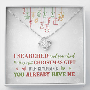 Perfect Christmas Knot Necklace