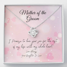 Load image into Gallery viewer, Mother of the Groom Knot Necklace