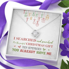 Load image into Gallery viewer, Perfect Christmas Knot Necklace