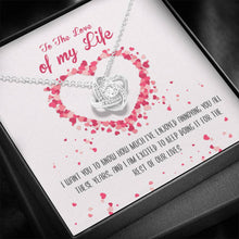 Load image into Gallery viewer, Love Of My Life Knot Necklace