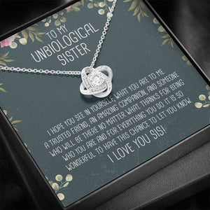 Unbiological Sister Knot Necklace