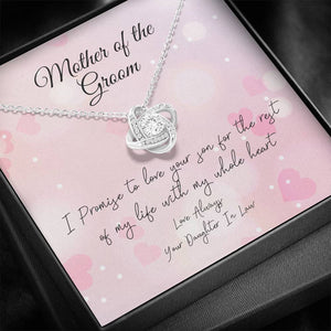 Mother of the Groom Knot Necklace