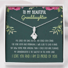 Load image into Gallery viewer, Granddaughter Ribbon Drop Pendant Necklace