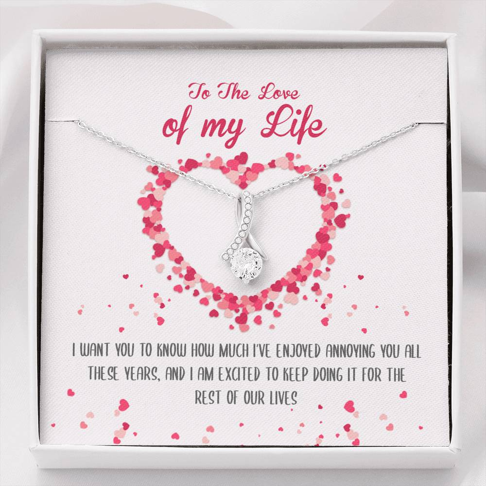Love Of My Life Ribbon Pendant Necklace