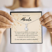 Load image into Gallery viewer, Abuela Ribbon Drop Pendant Necklace