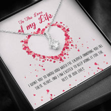 Load image into Gallery viewer, Love Of My Life Ribbon Pendant Necklace