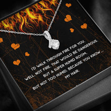 Load image into Gallery viewer, Walk Through Fire Ribbon Drop Pendant Necklace