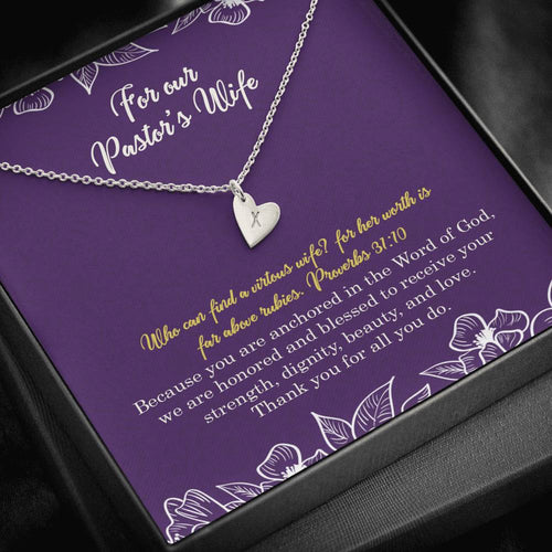 Pastors Wife Heart Charm Necklace