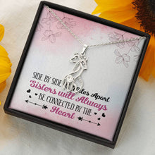 Load image into Gallery viewer, Sisters Apart Giraffe Necklace