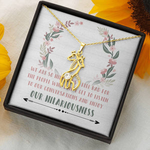 Hilarious Friends Giraffe Necklace