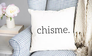 Chisme Throw Pillow Cover