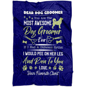 Custom Designed Dog Groomer Blanket