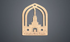 Columbia River Temple Christmas Ornament