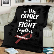 Load image into Gallery viewer, Multiple Myeloma We Fight Together Blanket