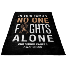 Load image into Gallery viewer, Custom Designed Childhood Cancer Blanket