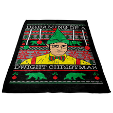 Load image into Gallery viewer, Custom Designed Dwight Christmas Fleece Blanket!