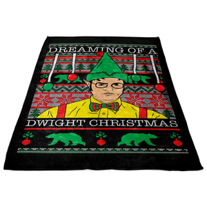 Custom Designed Dwight Christmas Fleece Blanket!